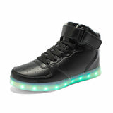 LED Black Shoes High Top
