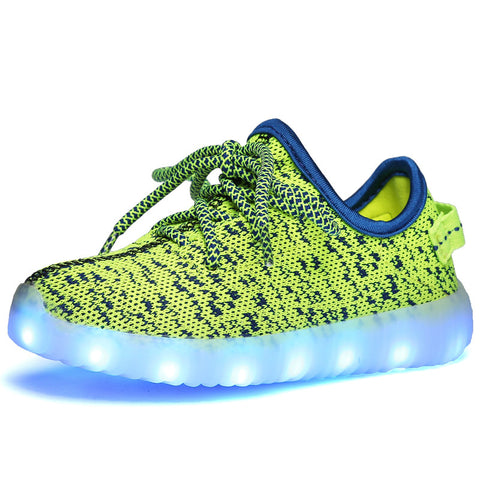 "LED Green ""L-E-D-Zus"" Shoes Laced Low Top"