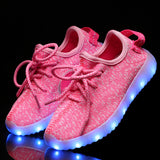 "LED Pink ""L-E-D-Zus"" Shoes Laced Low Top"