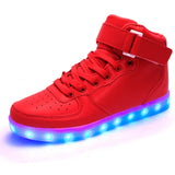 LED Red Shoes High Top