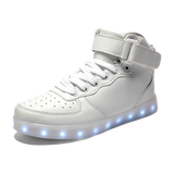 LED White Shoes High Top