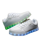 LED White Fashion Shoes Low Top