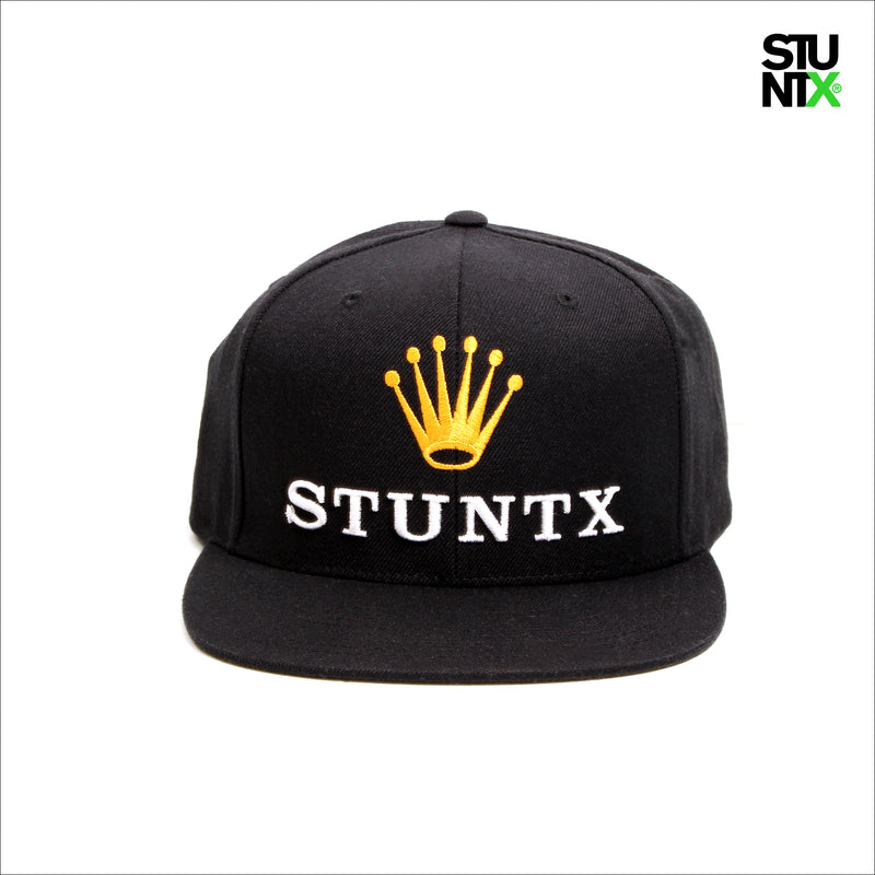 STUNTX® OYSTER LOYAL SNAP BACK CAP BLACK