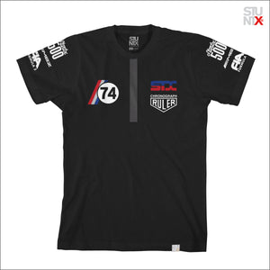 Stuntx underground racing apparel for the streets, F1 Podium t-shirt in black color.