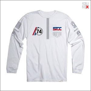 L/S F1 illegal podium white t-shirt for underground racing enthusiast