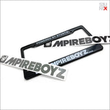 STUNTX® x ///MPIREBOYZ LICENSE PLATE FRAME 2.0 + STICKER 2.0 (BLACK OR GREY)