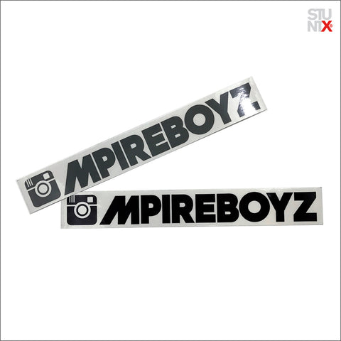 STUNTX® x ///MPIREBOYZ STICKER 2.0 (BLACK OR GREY)
