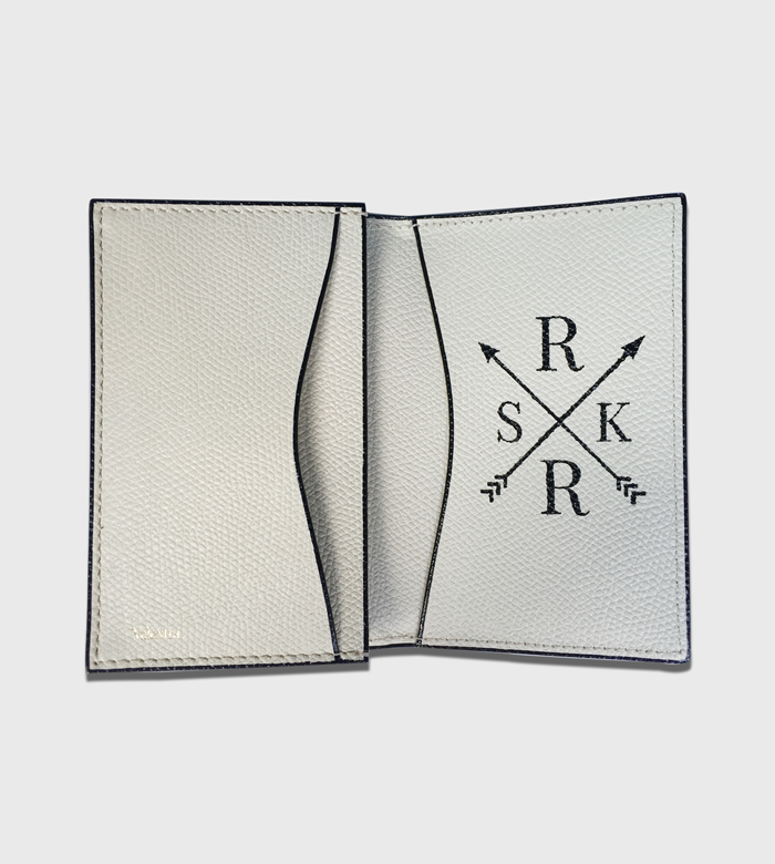 Valextra Passport Holder / Custom Crest