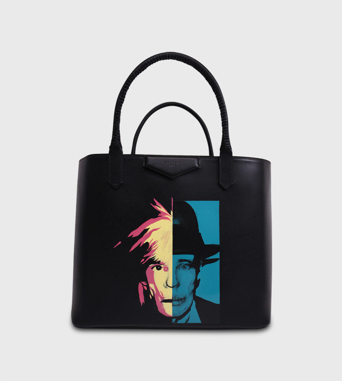 Givenchy Black Antigona Tote / Custom Art