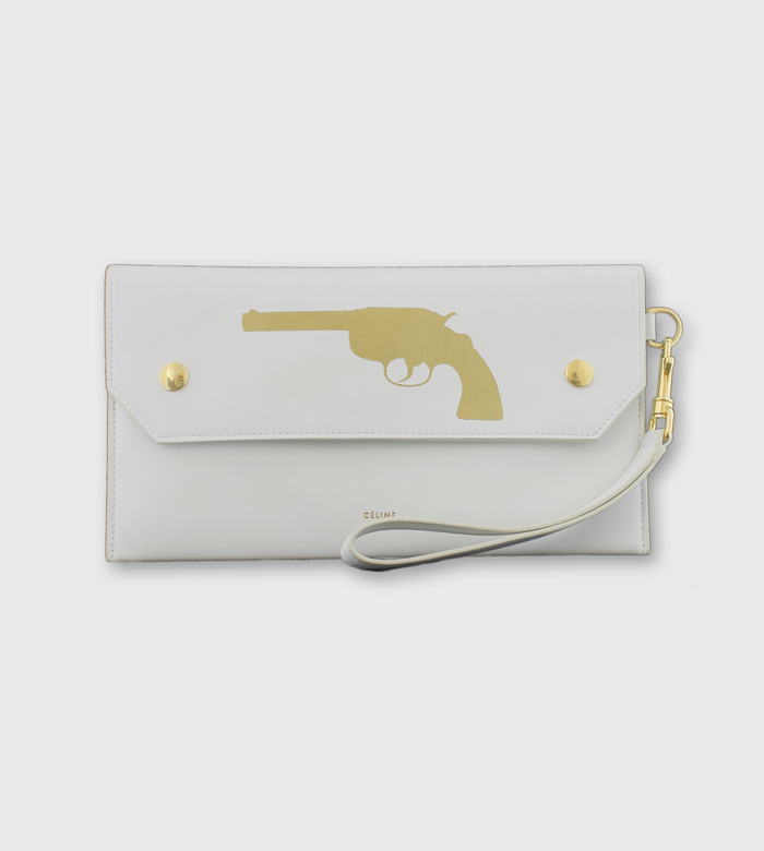 Celine Clutch / Custom Art