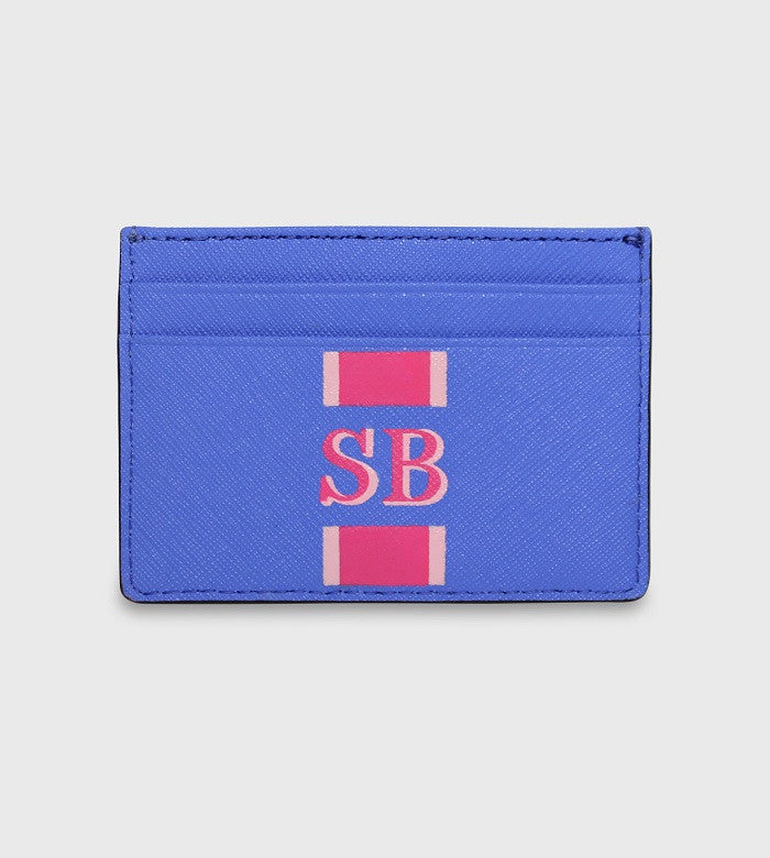 Kate Spade Blue Card Holder / Lettering + Stripes