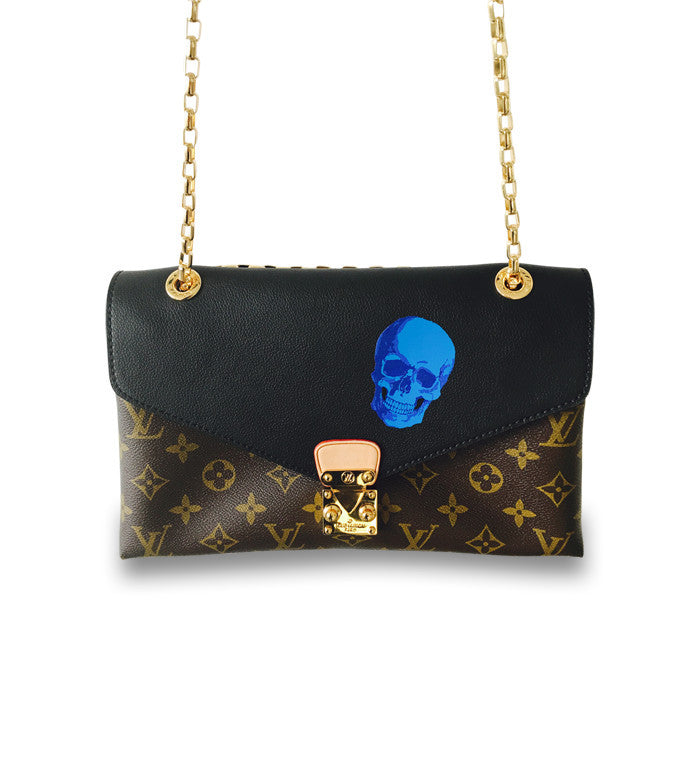 Louis Vuitton Pallas Chain Clutch / Custom Art