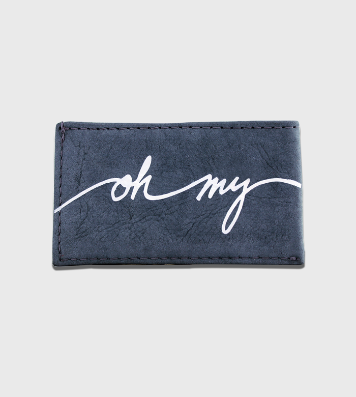 Leather Card Case / One Color Lettering