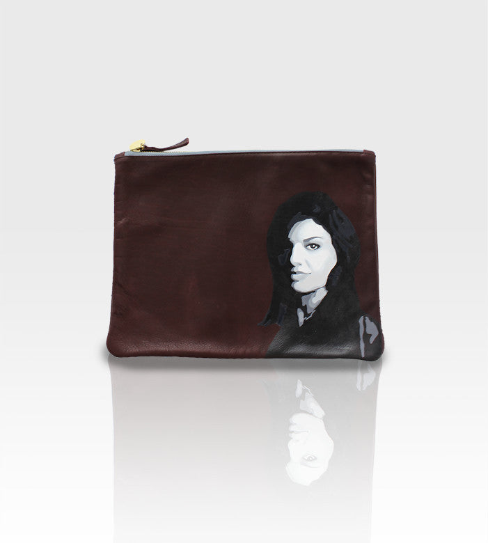 Clare Vivier Leather Clutch / Custom Portrait