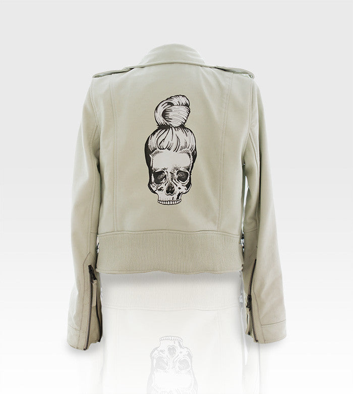 Linea Pelle Leather Jacket / Custom Art