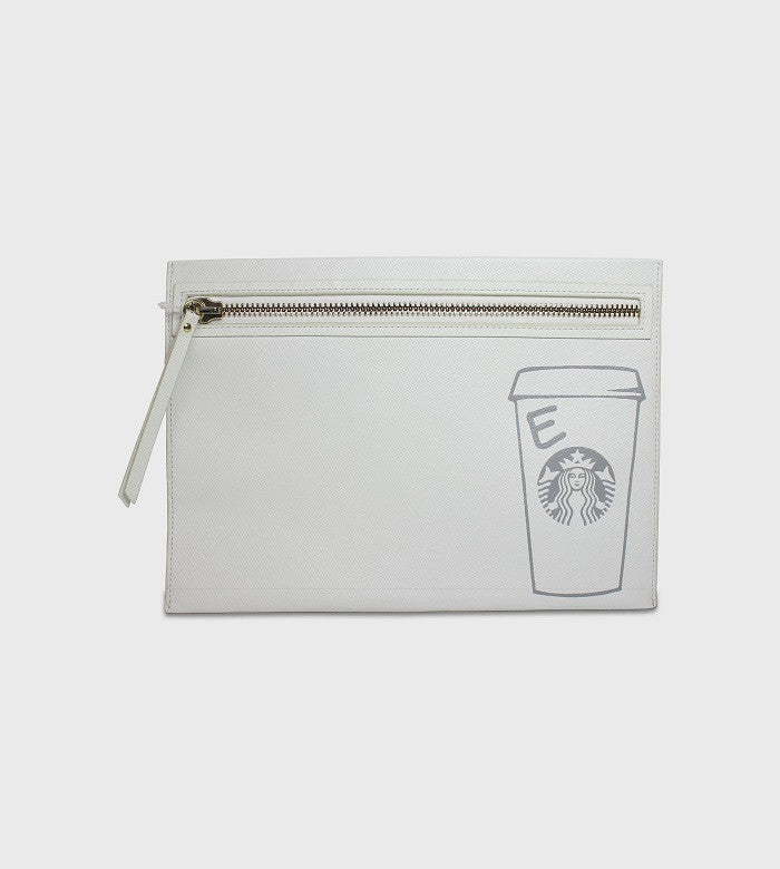 Barney's White Clutch / Custom Art + Lettering