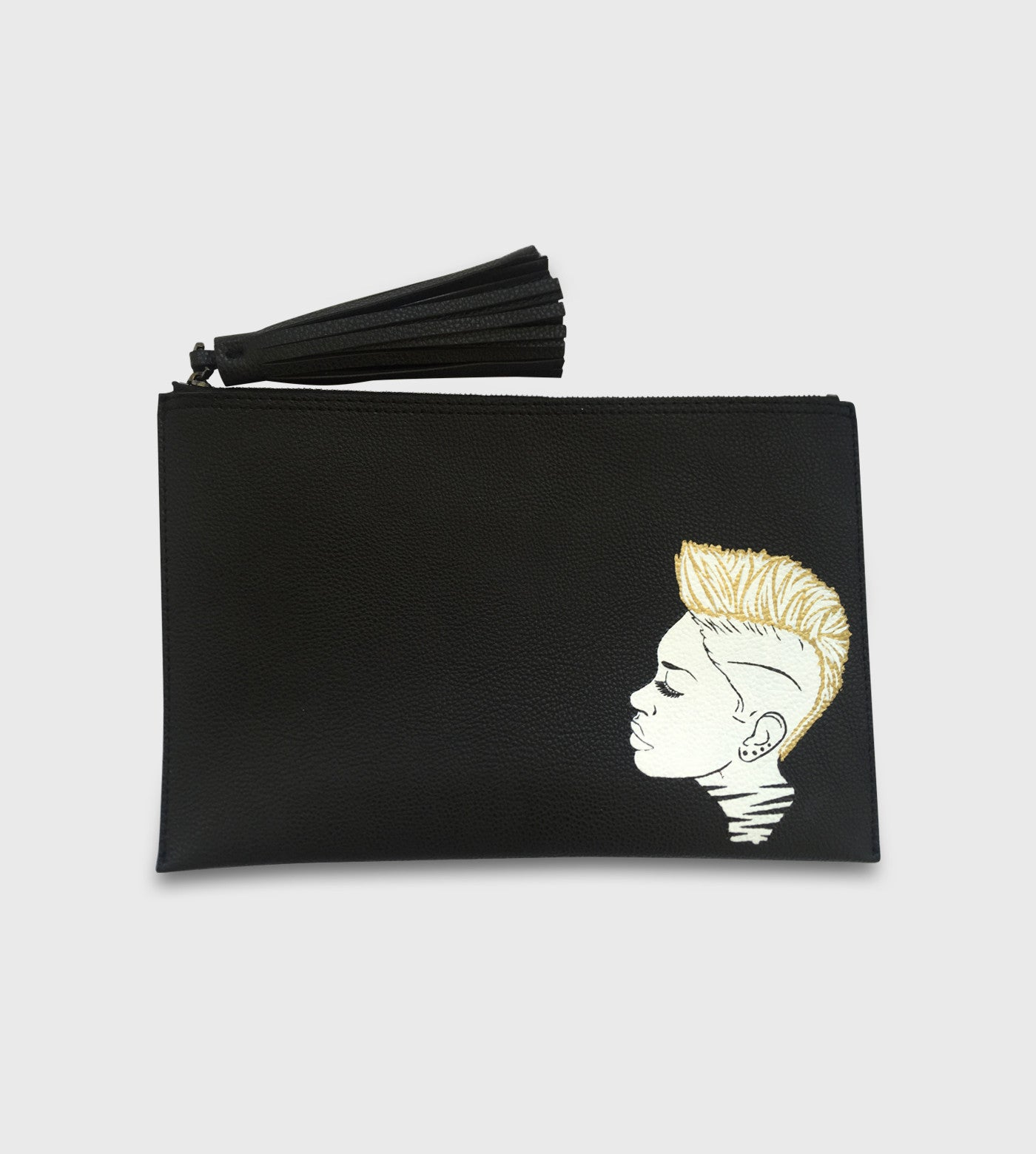 "Parker ""Sibley Scoles"" Clutch / Custom Art"