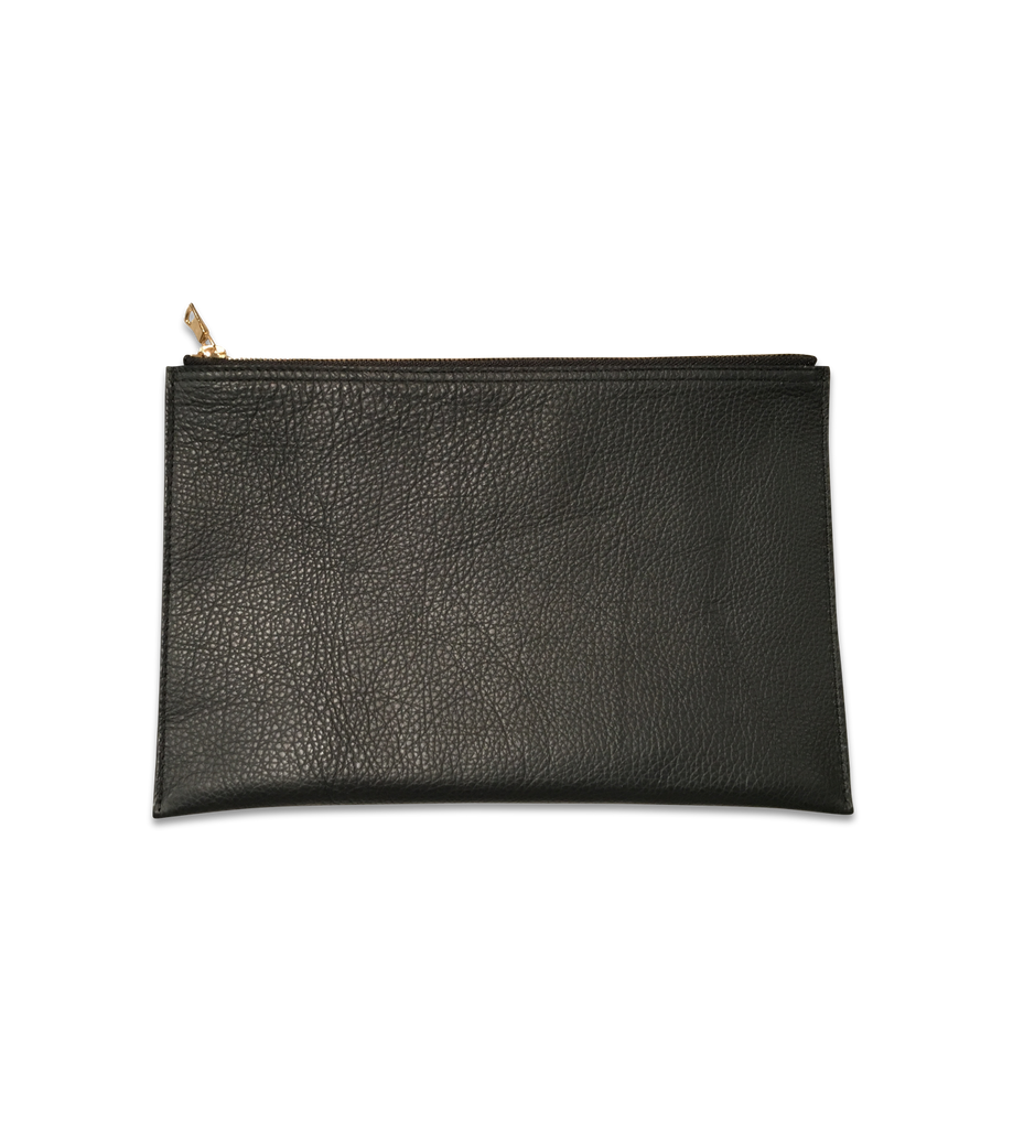 DTLAcustom Leather Clutch / Jet Black