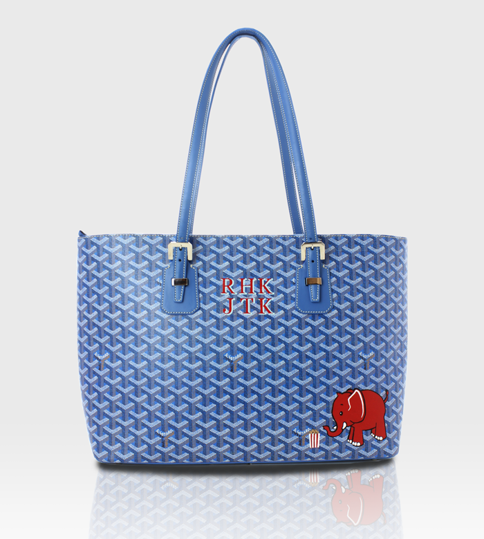 Goyard Tote / Custom Art + Monograms