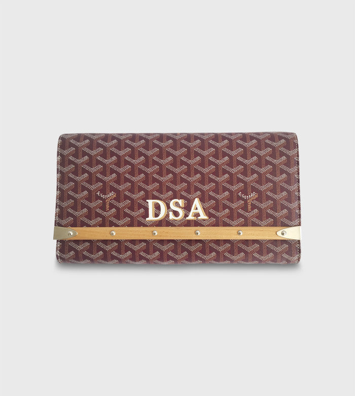 Goyard Pochette Purse Bois Clutch / Two Color Lettering