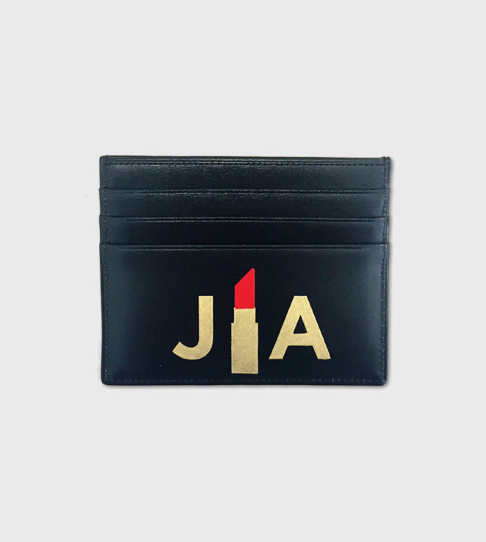 Leather Card Case / Lettering + Symbol