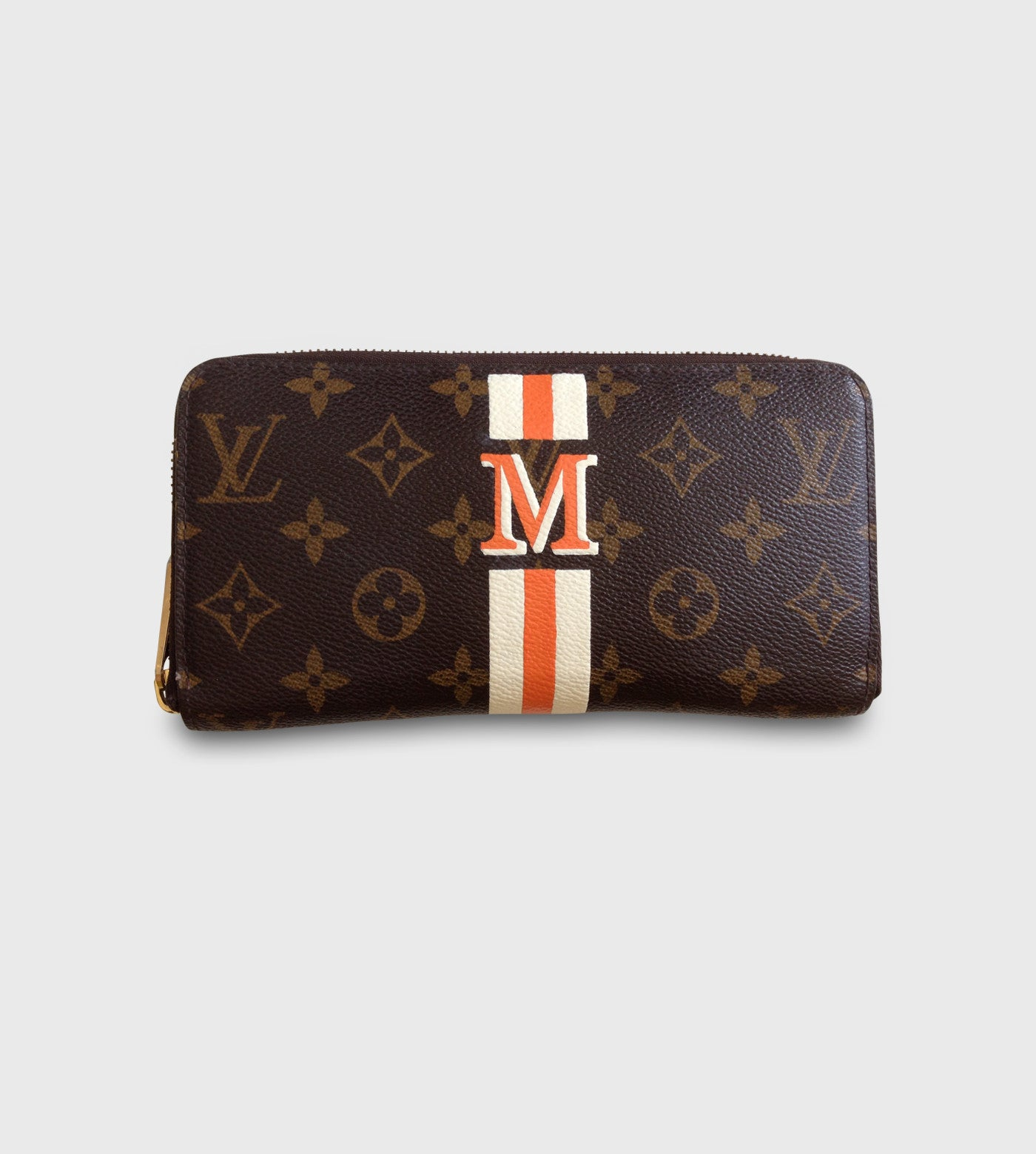 Louis Vuitton Zippy Wallet/ Lettering + Stripes