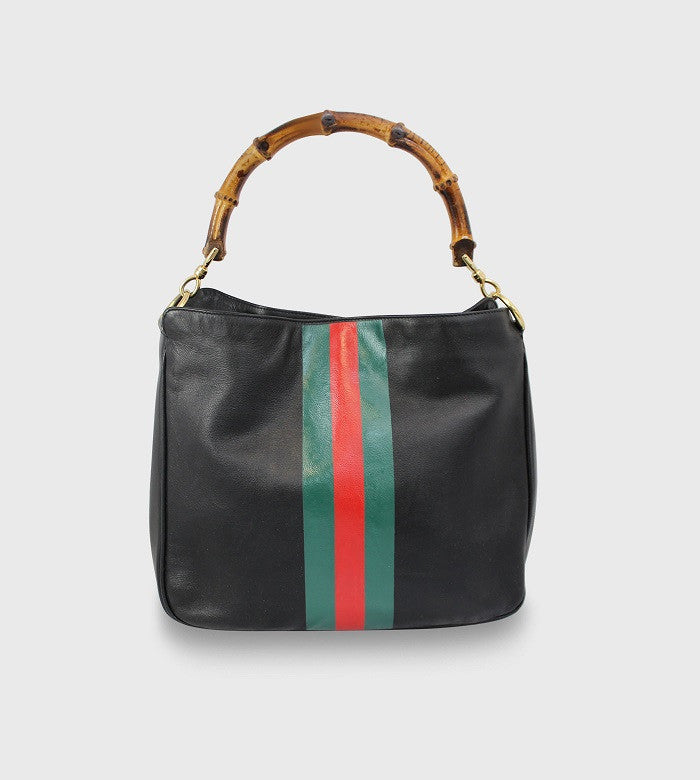 Vintage Gucci Handbag / Stripes