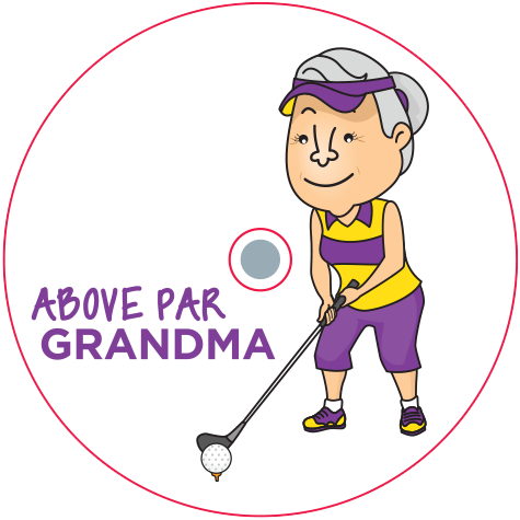 CaddyCap - Above Par Grandma - Golf Gifts for Women!