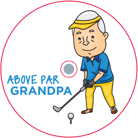CaddyCap - Above Par Grandpa - Golf Gifts for Dad!