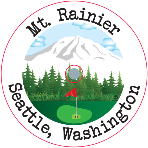 CaddyCap - Mt. Rainier Seattle Washington - Unique Golf Gifts!
