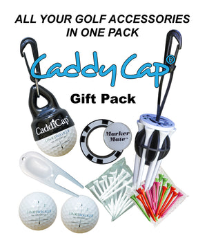 All of your golf accessories in one gift pack. Seven gifts in one gift set. Makes a great golf gift for women and men of all ages!