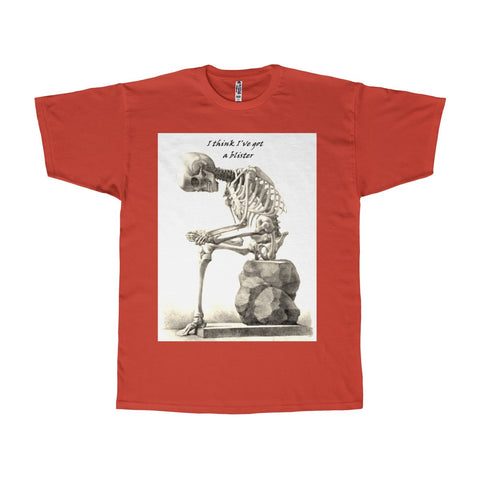 Adult Tee with Skeleton Art Print
