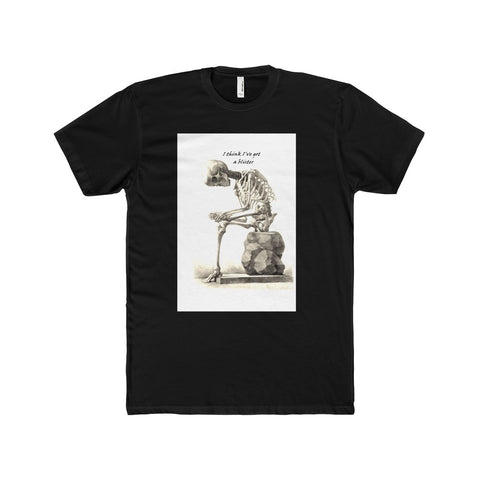 Men's Premium Fitted Short-Sleeve Crew Neck T-Shirt with Skeleton Art Print