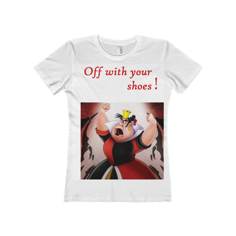 Women's The Boyfriend Tee with Alice in Wonderland Queen of Hearts Art Print