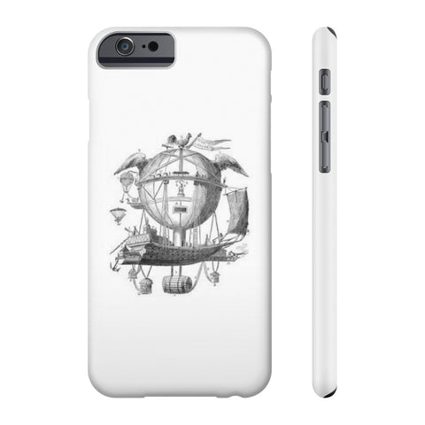 All US Phone cases with Hot Air Balloon Flying Airship Art Print