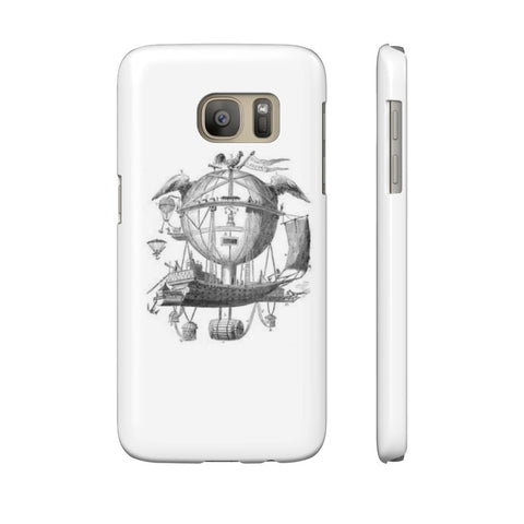 Slim Samsung Galaxy S7 with Hot Air Balloon Flying Airship Art Print