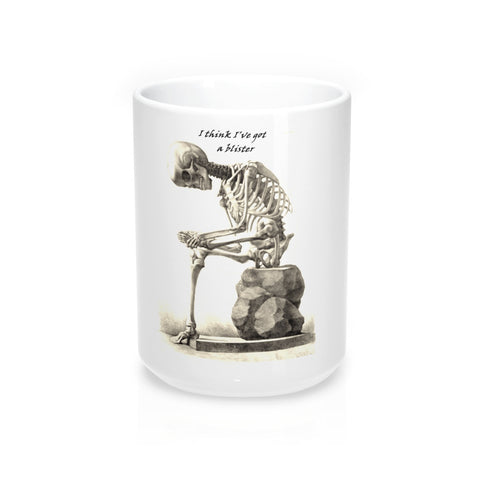 Mug 15oz with Skeleton Art Print