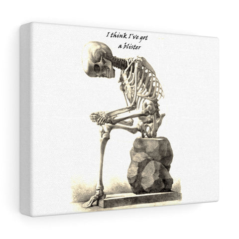 Canvas with Skeleton Art Print