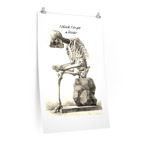 Posters with Skeleton Art Print
