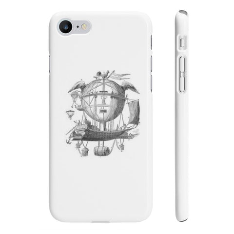 Slim iPhone 7 with Hot Air Balloon Flying Airship Art Print