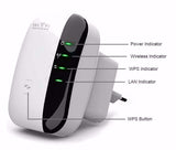 Wireless WiFi Repeater Signal Amplifier 802.11N/B/G Wi-fi Range Extender 300Mbps Signal Booster Wifi Wps Encryption