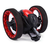 2.4GHz Wireless Remote Control Jumping RC Toy Bounce Cars Robot Toys Flexible Wheels