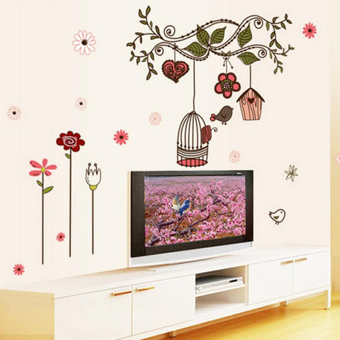 Super Deal wall stickers living room home decorations Vinyl pvc decal mural art Wall Creative Floral Stickers Decorative