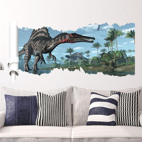 Hot Sale New Design dinosaur wall stickers Decals home decor 3d movie wall stickers room decorations posters XT