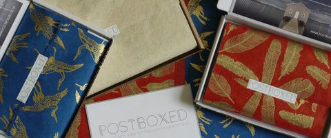 Postboxed letterbox friendly packaging gift cards gift wrapping