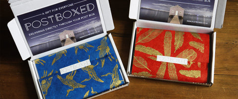 Postboxed friendly packaging gift wrapping gift cards