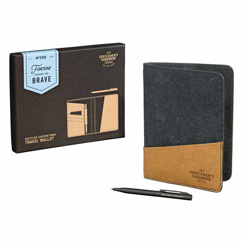 Gentlemen's Hardware Recycled Leather Travel Wallet