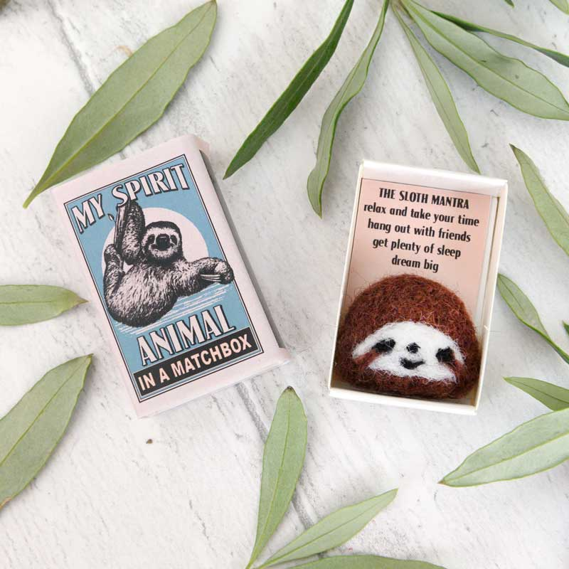 Marvling Bros Sloth Spirit Animal In A Matchbox