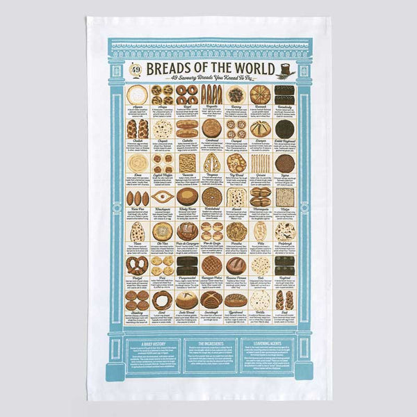 Stuart Gardiner Breads of the World Tea Towel