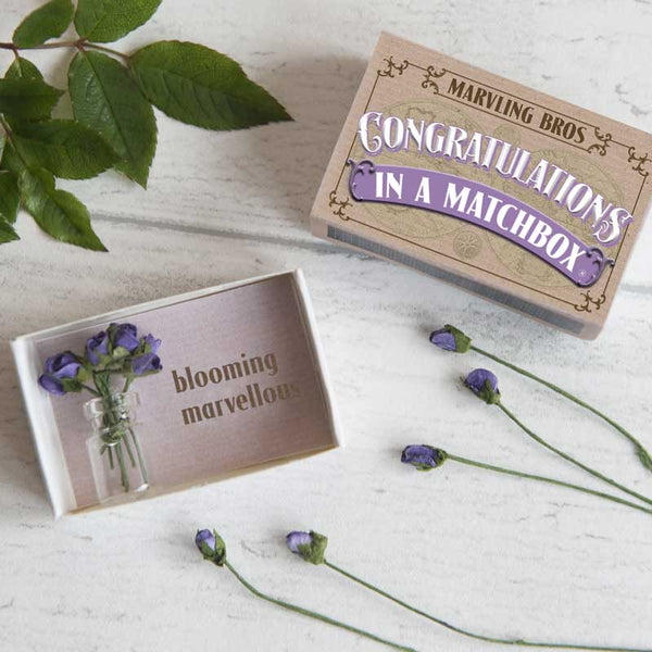 Marvling Bros Congratulations in a Matchbox
